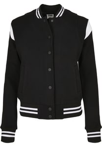 Urban Classics TB3776 - Ladies Organic Inset College Sweat Jacket