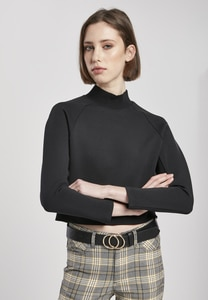 Urban Classics TB3782 - Dames Interlock Korte Turtleneck Crew