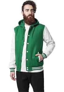 Urban Classics TB438 - Hooded Oldschool College Jacket