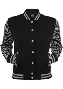 Urban Classics TB468 - Ladies Zebra 2-tone College Sweatjacket