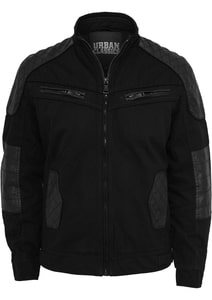 Urban Classics TB562 - Cotton/Leathermix Racer Jacket