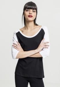 Urban Classics TB733 - Camiseta 3/4 raglán a contraste para mujer