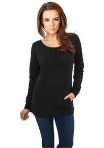 Urban Classics TB740 - Jersey de mujer con cuello amplio y bolsillo
