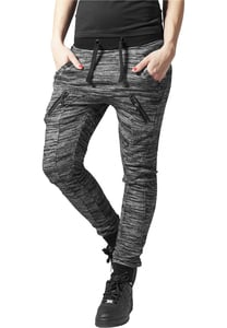 Urban Classics TB791 - Ladies Fitted Melange Zip Sweatpants