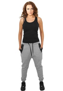 Urban Classics TB801 - Ladies Side Zip Leather Pocket Sweatpant