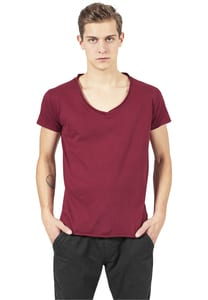 Urban Classics TB813 - Fitted Peached Open Edge V-Neck Tee