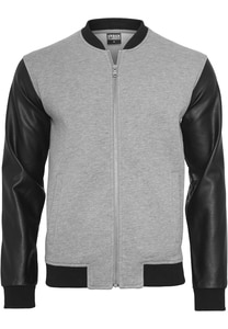 Urban Classics TB984 - Zipped Leather Imitation Sleeve Jacket