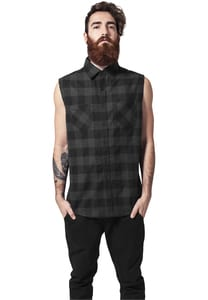 Urban Classics TB999 - Sleeveless Checked Flanell Shirt