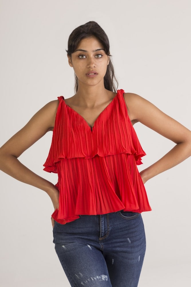 ALLYSON 1TP14 - Pleated tank top