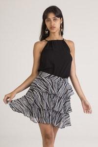 IVIVI 1SK2 - Ruffled skirt