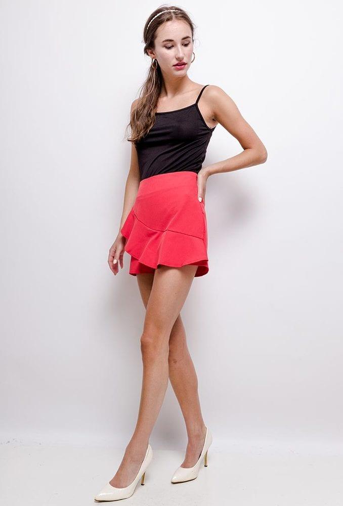 ELENZA 1SH3 - Ruffled shorts