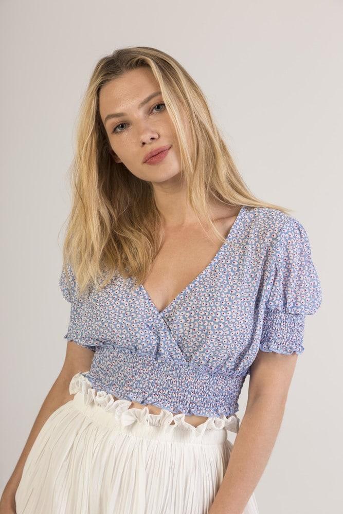 EIGHT PARIS 1TP22 - Short blouse with flowers