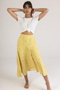 Falda midi con estampado de flores - ELENZA 1SK9