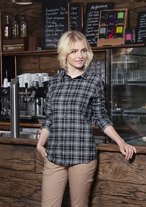 Karlowsky BF 7 - Ladies Checked Blouse Urban-Flair