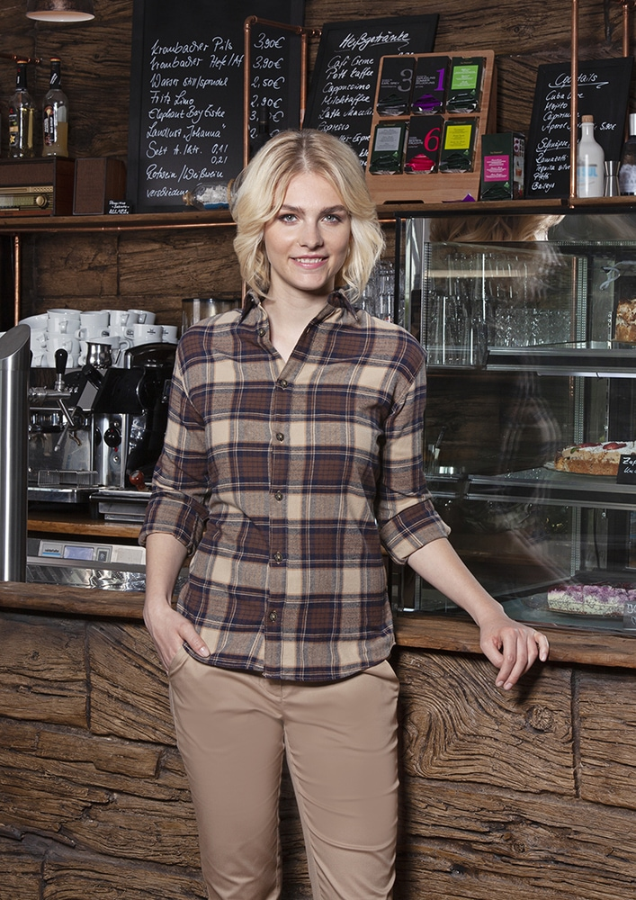 Karlowsky BF 9 - Ladies' Checked Blouse Urban-Trend