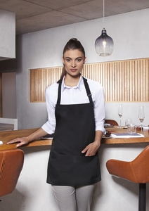 Karlowsky BLS 6 - Short Bib Apron Basic with Buckle and Pocket 75 x 60 cm