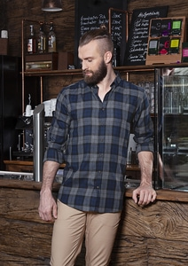 Karlowsky BM 8 - Mens Checked Shirt Urban-Style