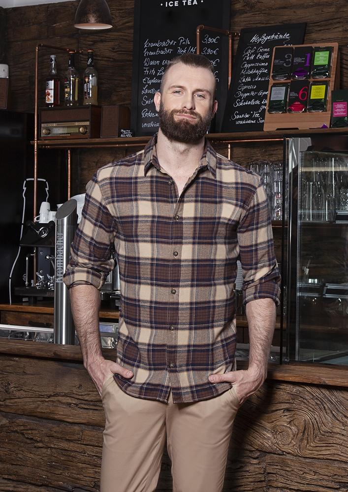 Karlowsky BM 9 - Men's Checked Shirt Urban-Trend