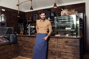 Karlowsky BSS 9 - Bistro Apron Jeans-Style with Pocket 105 x 90 cm