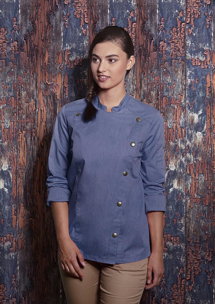 Karlowsky JF 20 - Ladies' Chef Jacket Jeans-Style
