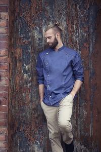 Karlowsky JM 24 - Chef Jacket Jeans-Style