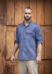 Karlowsky JM 28 - Chef Shirt Jeans-Style