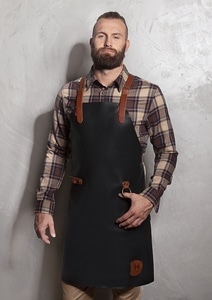 Karlowsky LS 35 - Leather Bib Apron X-Style with Cross Straps 60 x 82 cm