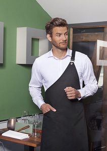 Karlowsky LS 36 - Asymmetrical Bib Apron Classic with Pocket 70 x 90 cm