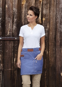 Karlowsky VS 9 - Waist Apron Jeans-Style with leather and pocket 70 x 45 cm