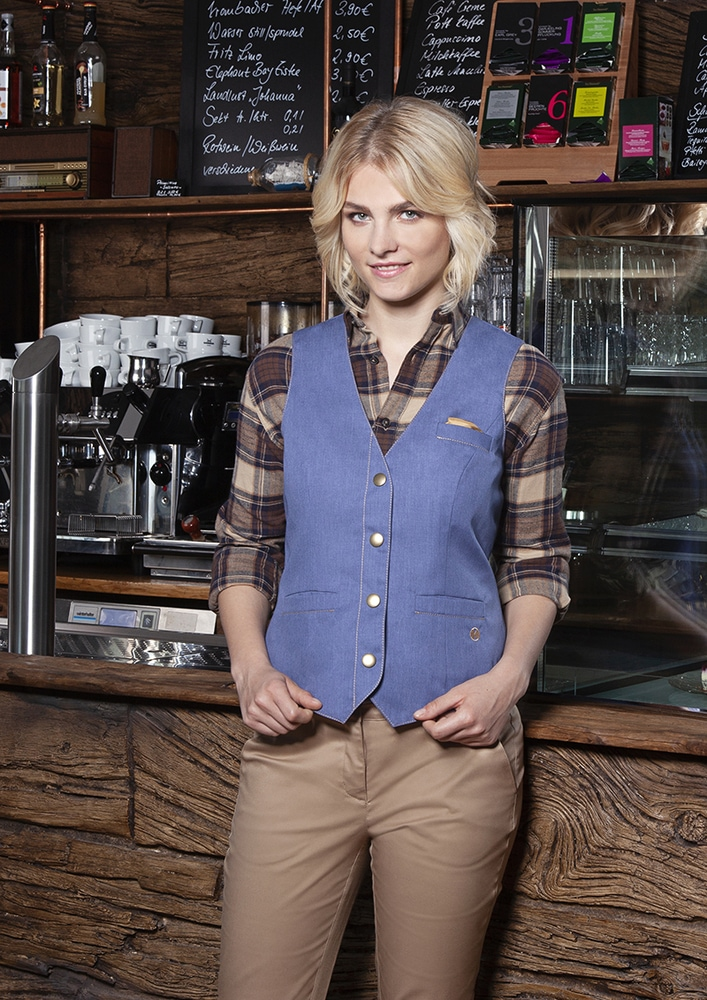 Karlowsky WF 3 - Ladies' Waistcoat Jeans-Style