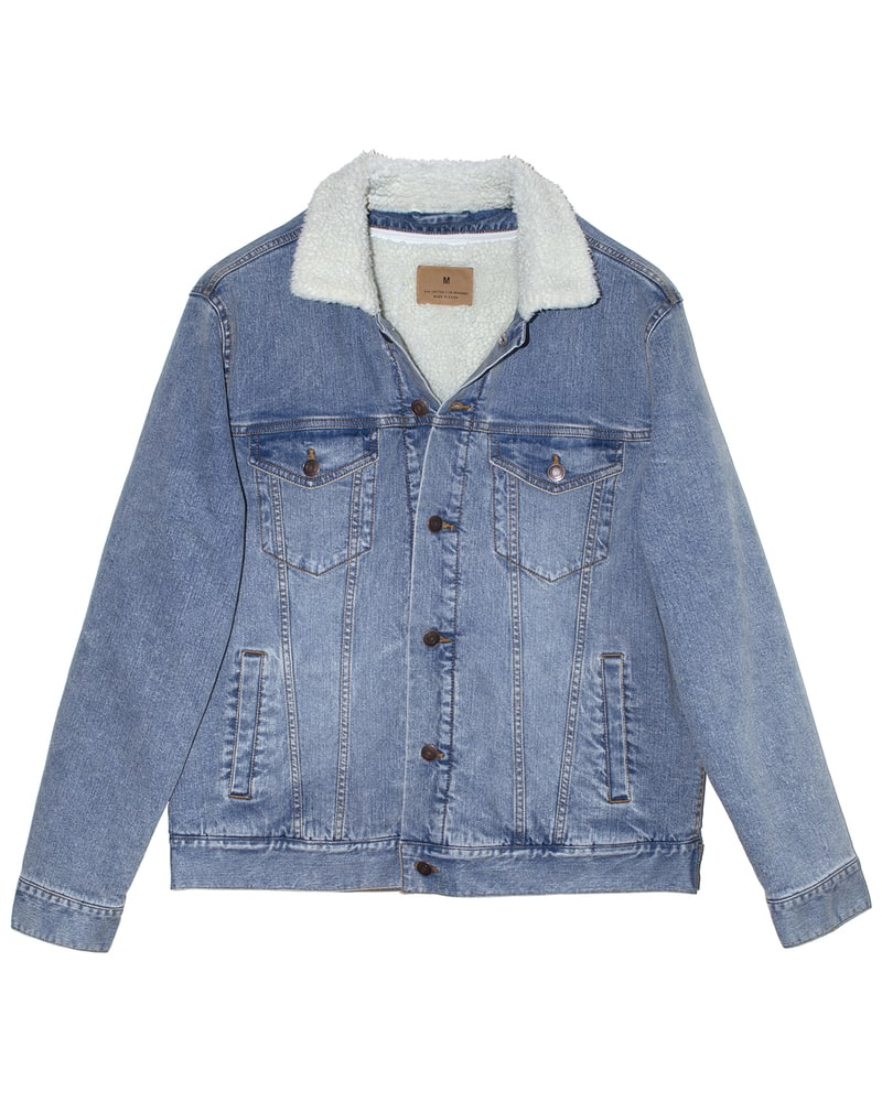 Threadfast 372J - Unisex Sherpa-Lined Denim Jacket