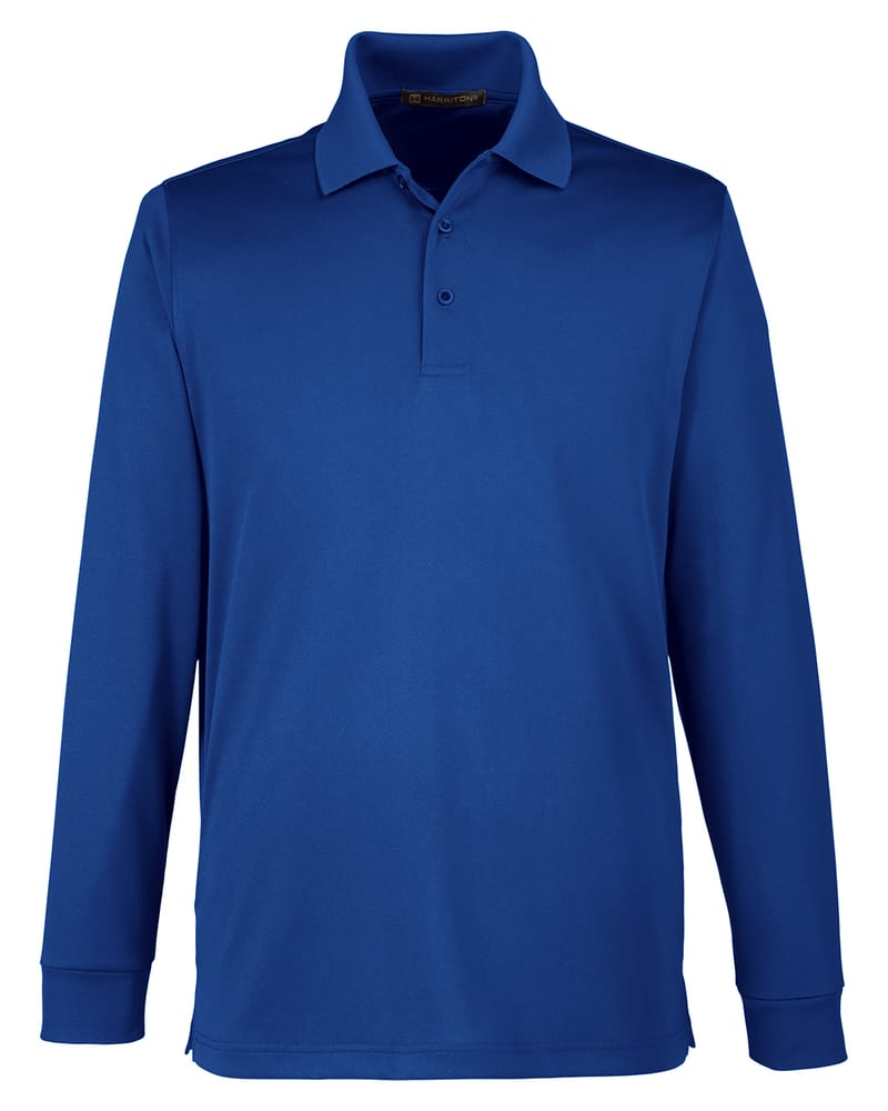 Harriton M348L - Men's Advantage Snag Protection Plus IL Long Sleeve Polo