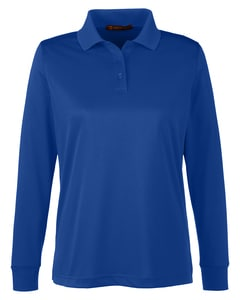 Harriton M348LW - Ladies Advantage Snag Protection Plus IL Long Sleeve Polo