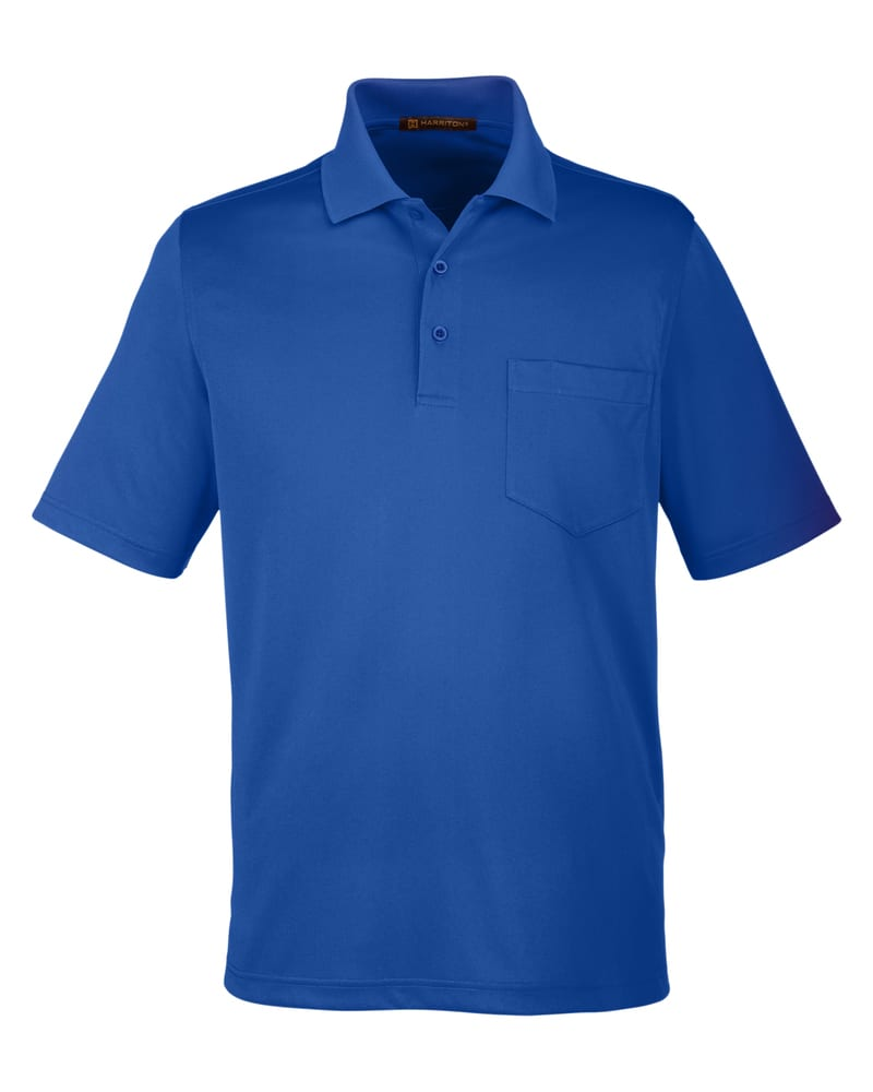 Harriton M348P - Men's Advantage Snag Protection Plus IL Pocket Polo