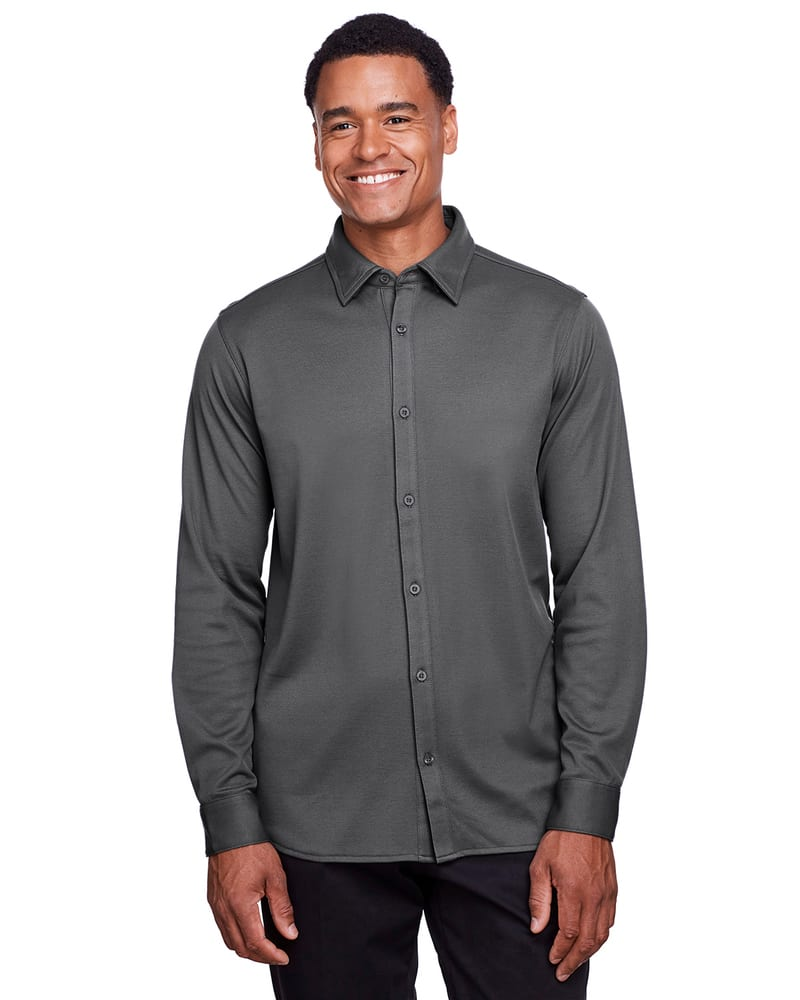 Devon & Jones DG20Z - Men's CrownLux Performance Plaited Button-Down Shirt