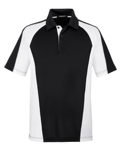 Harriton M385 - Mens Advantage Snag Protection Plus IL Colorblock Polo