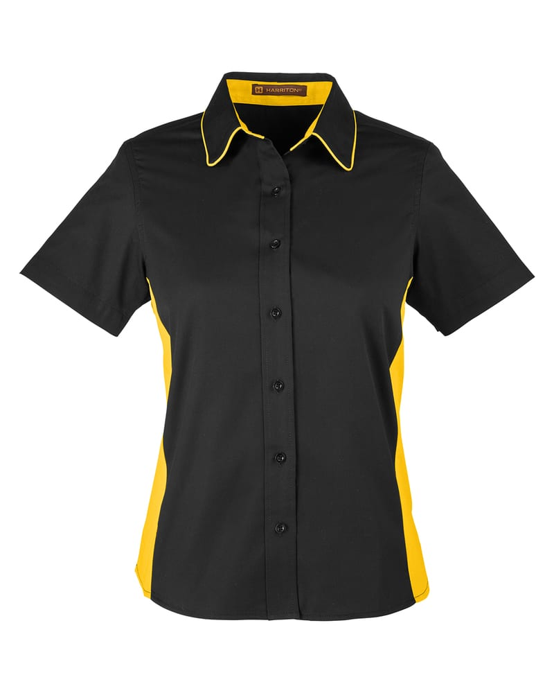 Harriton M586W - Ladies Flash IL Colorblock Short Sleeve Shirt