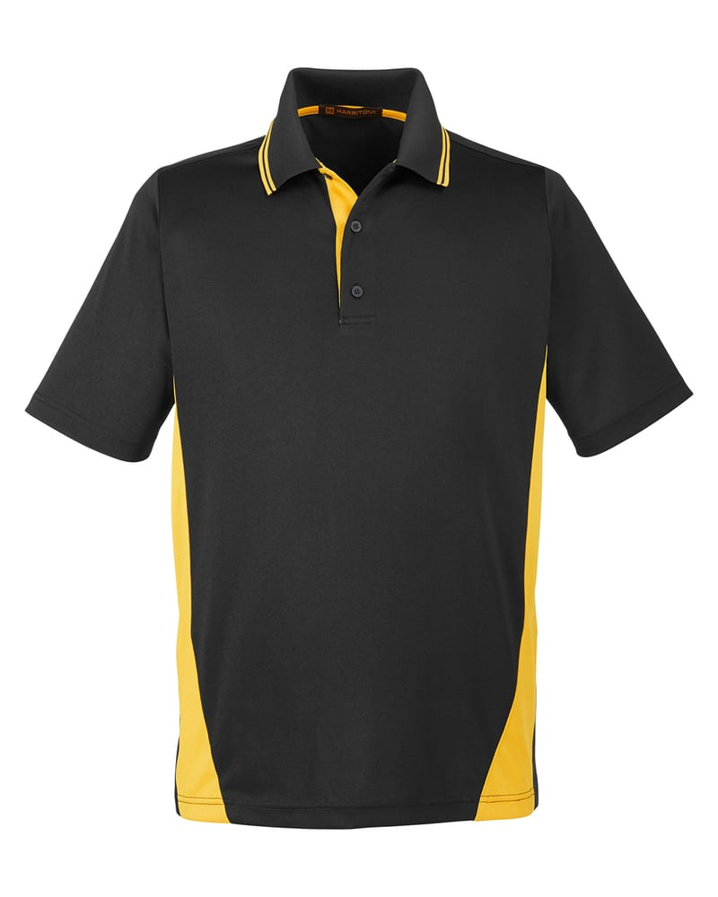 Harriton M386 - Men's Flash Snag Protection Plus IL Colorblock Polo