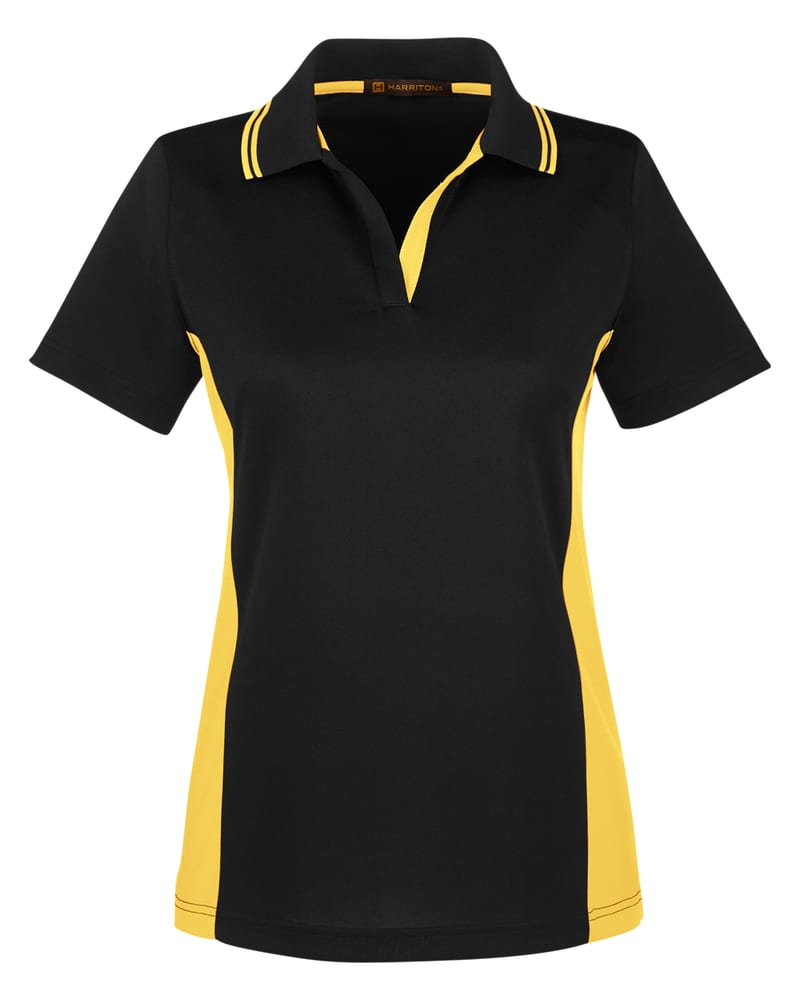 Harriton M386W - Ladies Flash Snag Protection Plus IL Colorblock Polo
