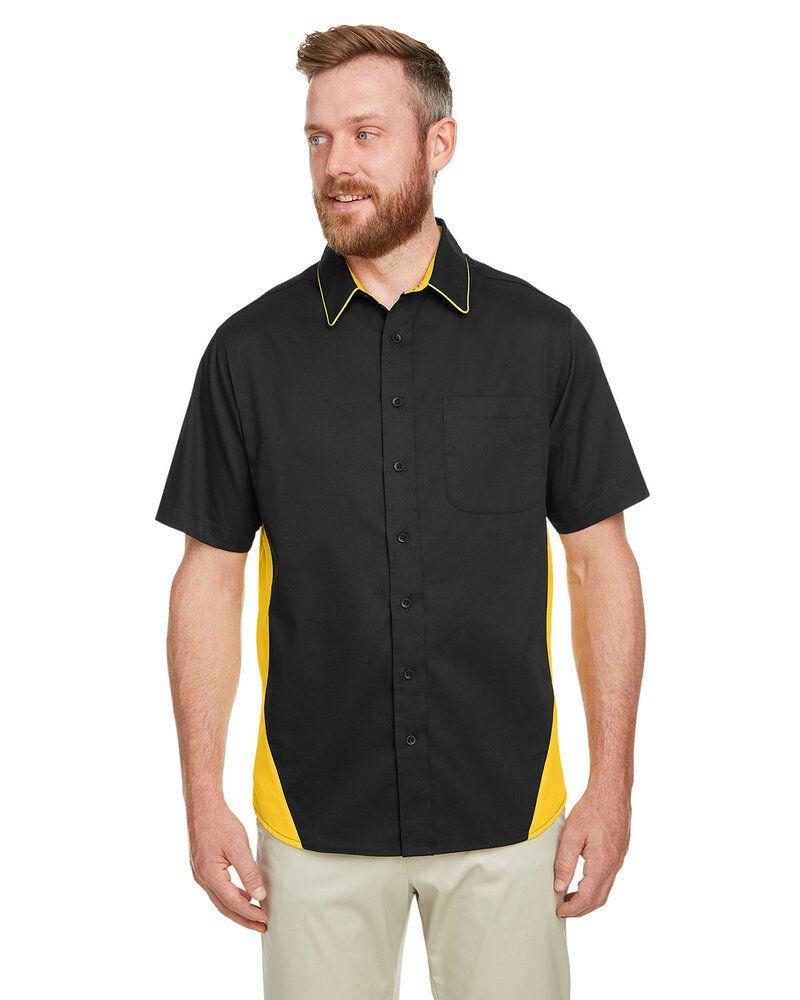 Harriton M586 - Chemise à manches courtes Flash Il Colorblock pour homme