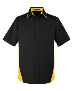 Harriton M586 - Mens Flash IL Colorblock Short Sleeve Shirt