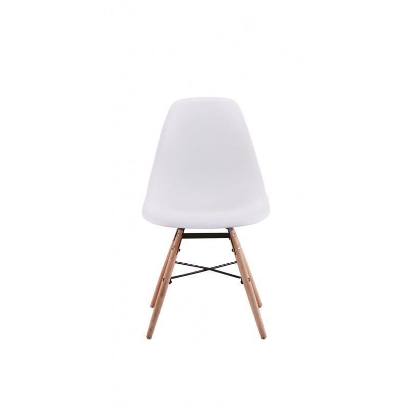 Atelier Mundo SJ-197 - Lots de 2 chaises scandinaves en polypropylène pieds hêtre