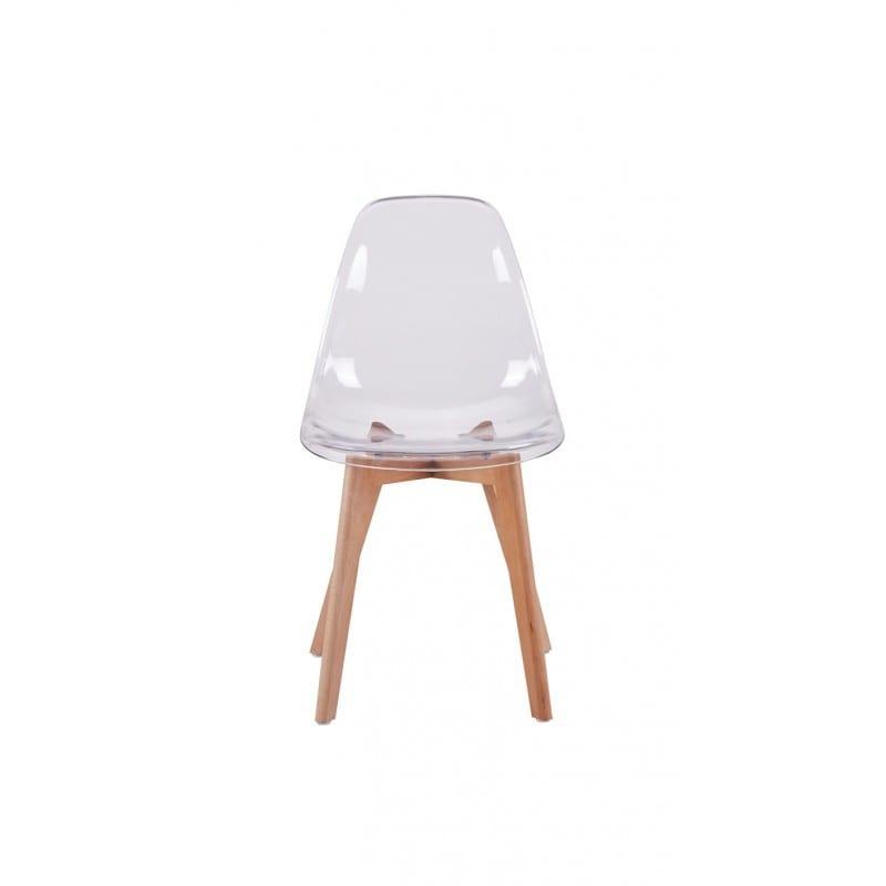 Atelier Mundo SJ-81 - Lots de 2 chaises scandinaves en polypropylène coussin simili pieds en bois