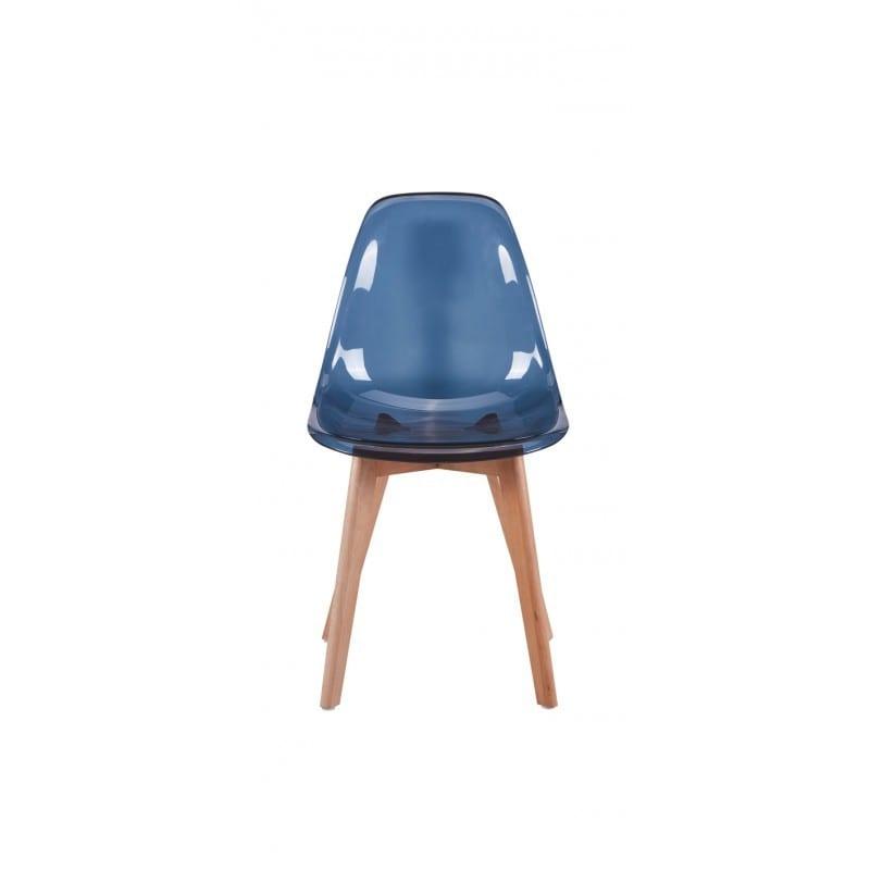Atelier Mundo SJ-83 - Lots de 2 chaises scandinaves en polypropylène transparent