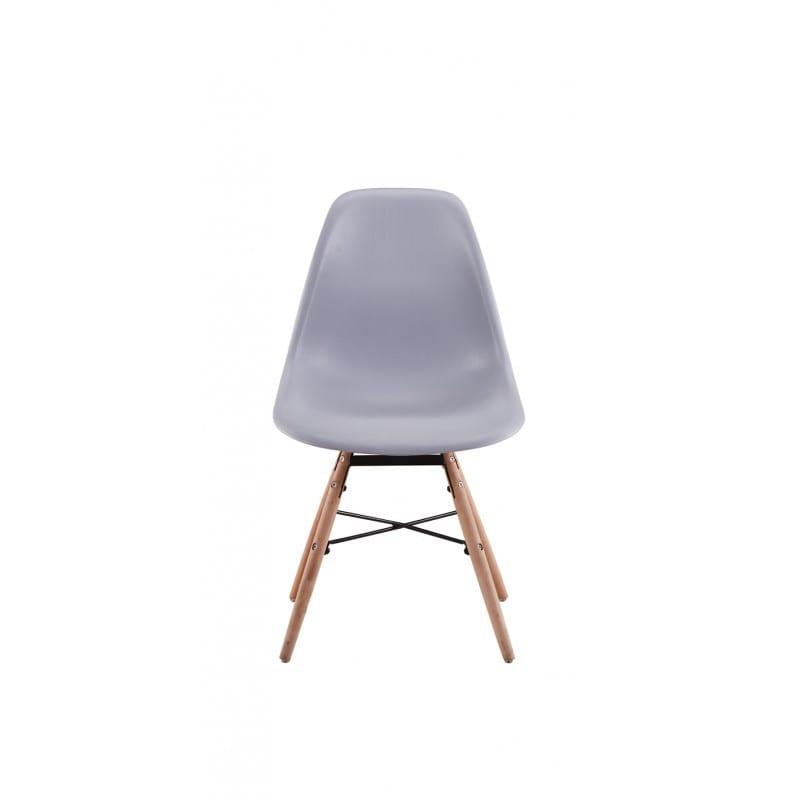Atelier Mundo SJ-196 - Lots de 2 chaises scandinaves en polypropylène pieds hêtre