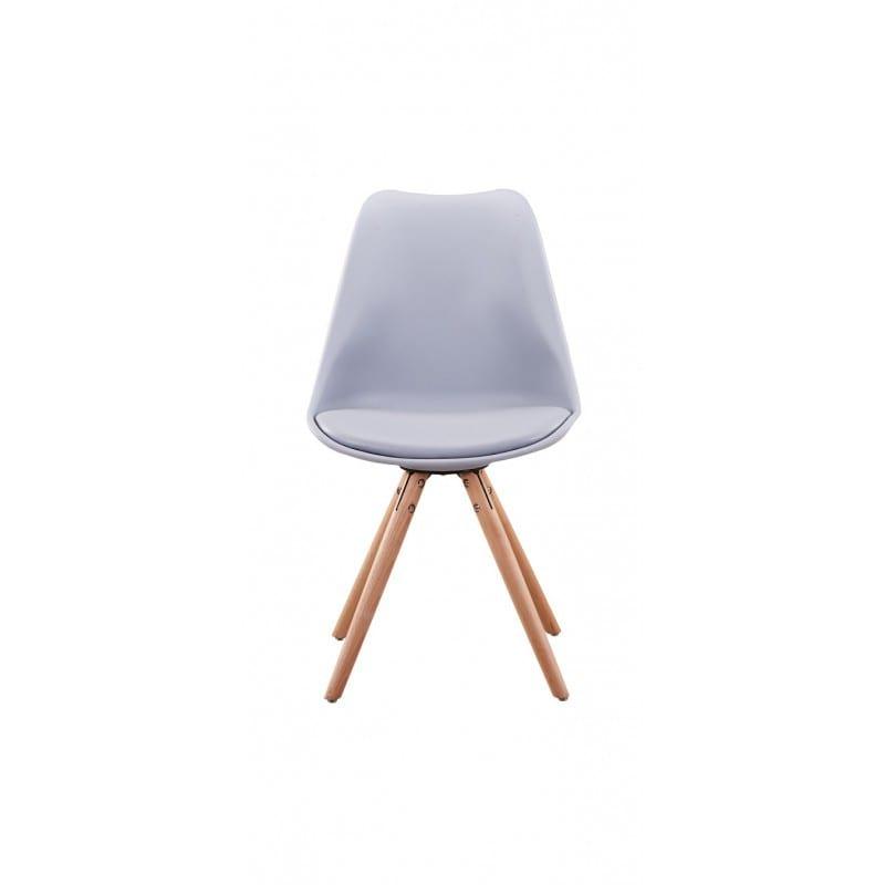 Atelier Mundo SJ-199 - Lots de 2 chaises scandinaves en polypropylène coussin simili pieds bois