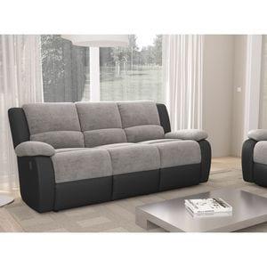 Atelier Mundo SJ-411 - Canapé de relaxation 3 places en microfibre et simili