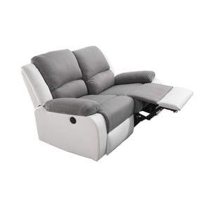 Atelier Mundo SJ-516 - Canapé de relaxation électrique 2 places en microfibre et simili
