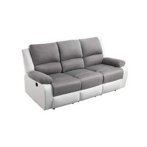 Atelier Mundo SJ-519 - Canapé de relaxation électrique 3 places en microfibre et simili