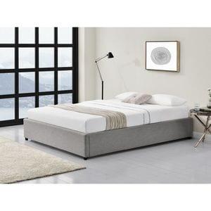 Atelier Mundo SJ-431 - Cadre de lit avec coffre de rangement en tissu